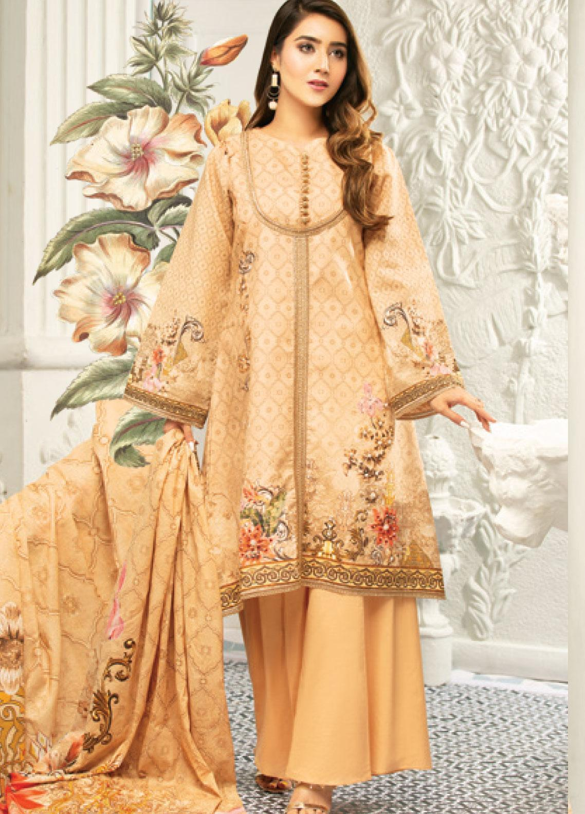 Muskan by Mohagni Embellished Lawn Unstitched 3 Piece Suit MMO20L 05 - Summer Collection