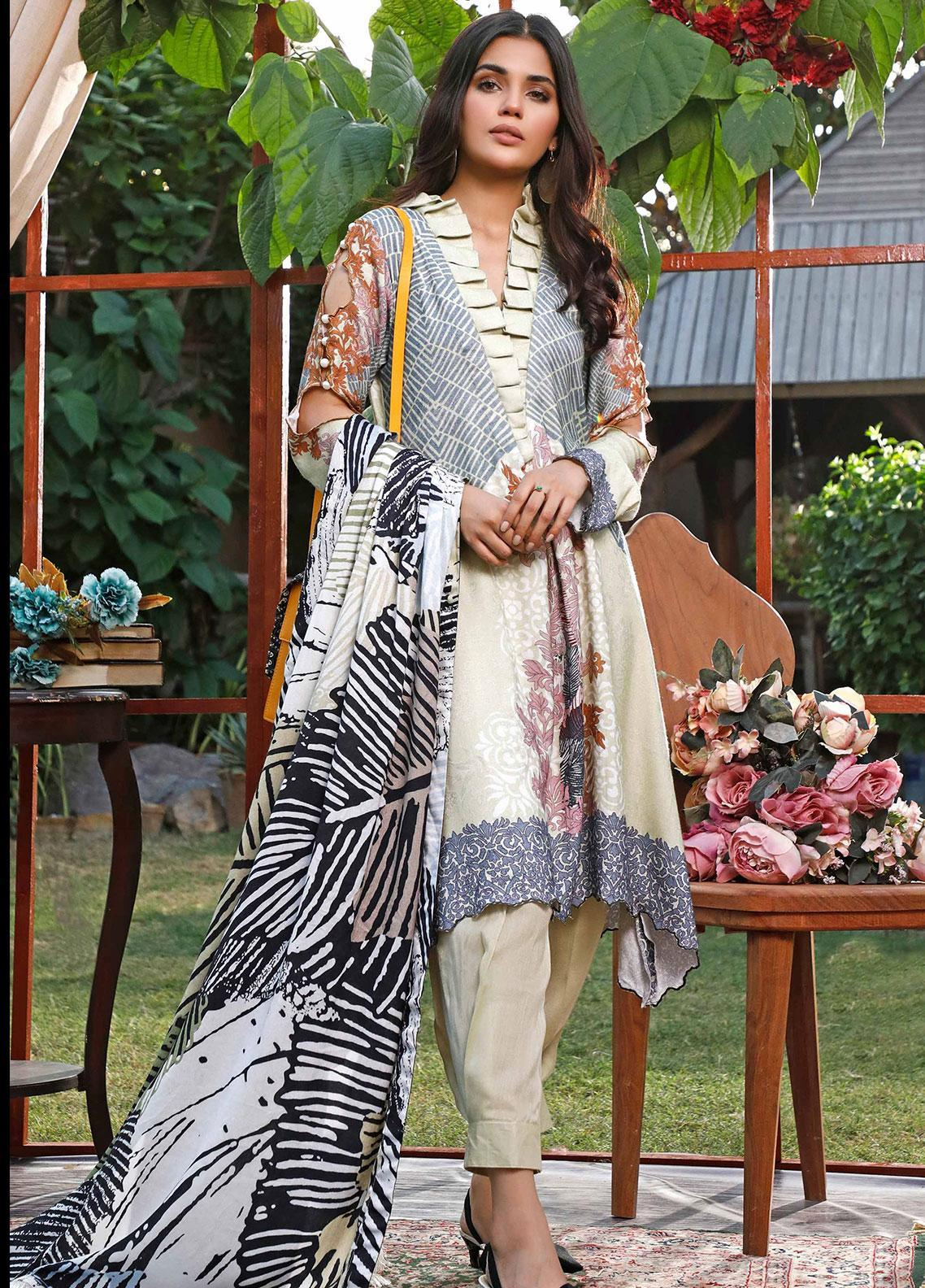 Mystique Embroidered Jacquard Unstitched 3 Piece Suit MYS19W 09 - Winter Collection