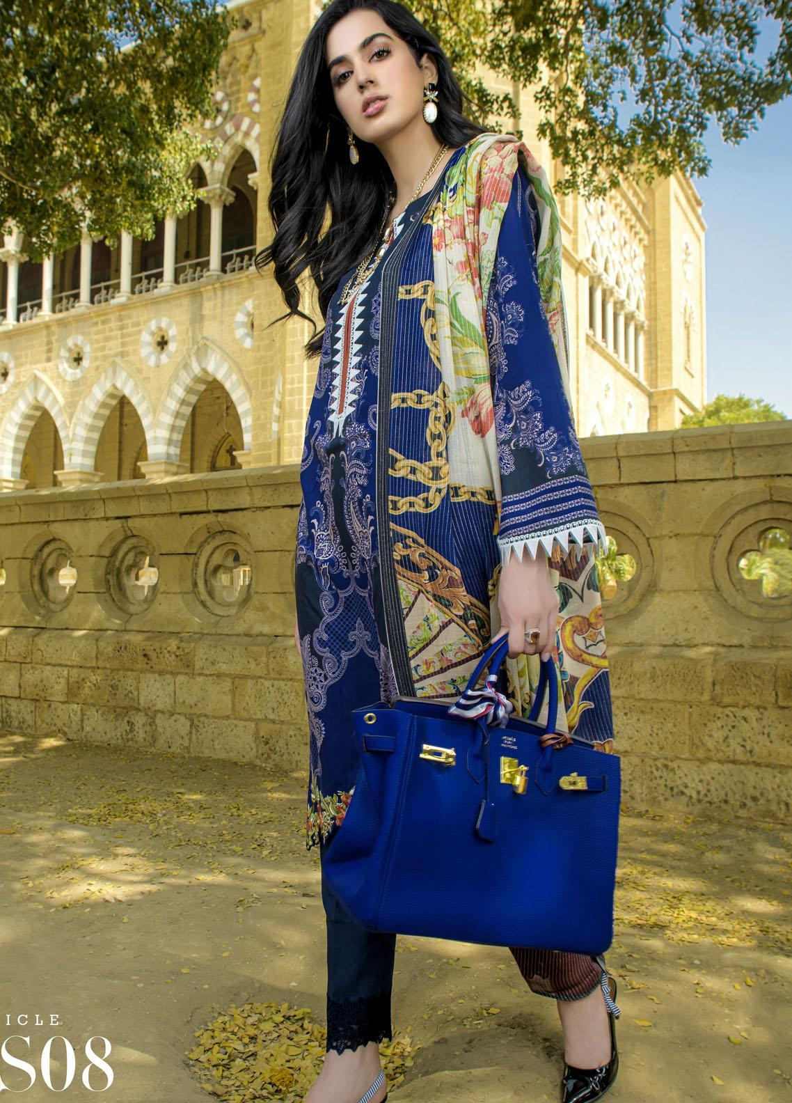 Mystique Embroidered Lawn Suits Unstitched 3 Piece MYS21SS 08 - Spring / Summer Collection