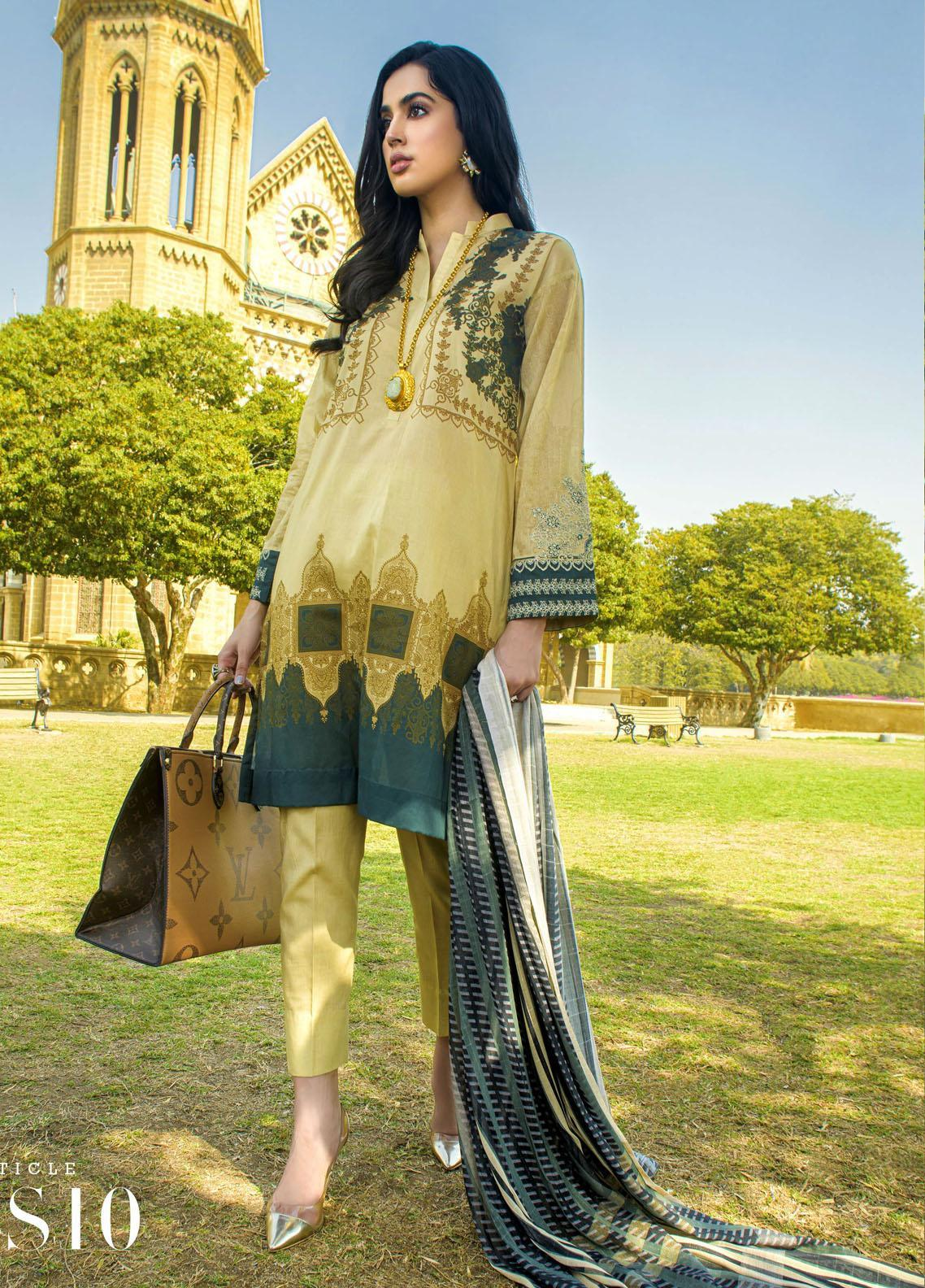 Mystique Embroidered Lawn Suits Unstitched 3 Piece MYS21SS 10 - Spring / Summer Collection