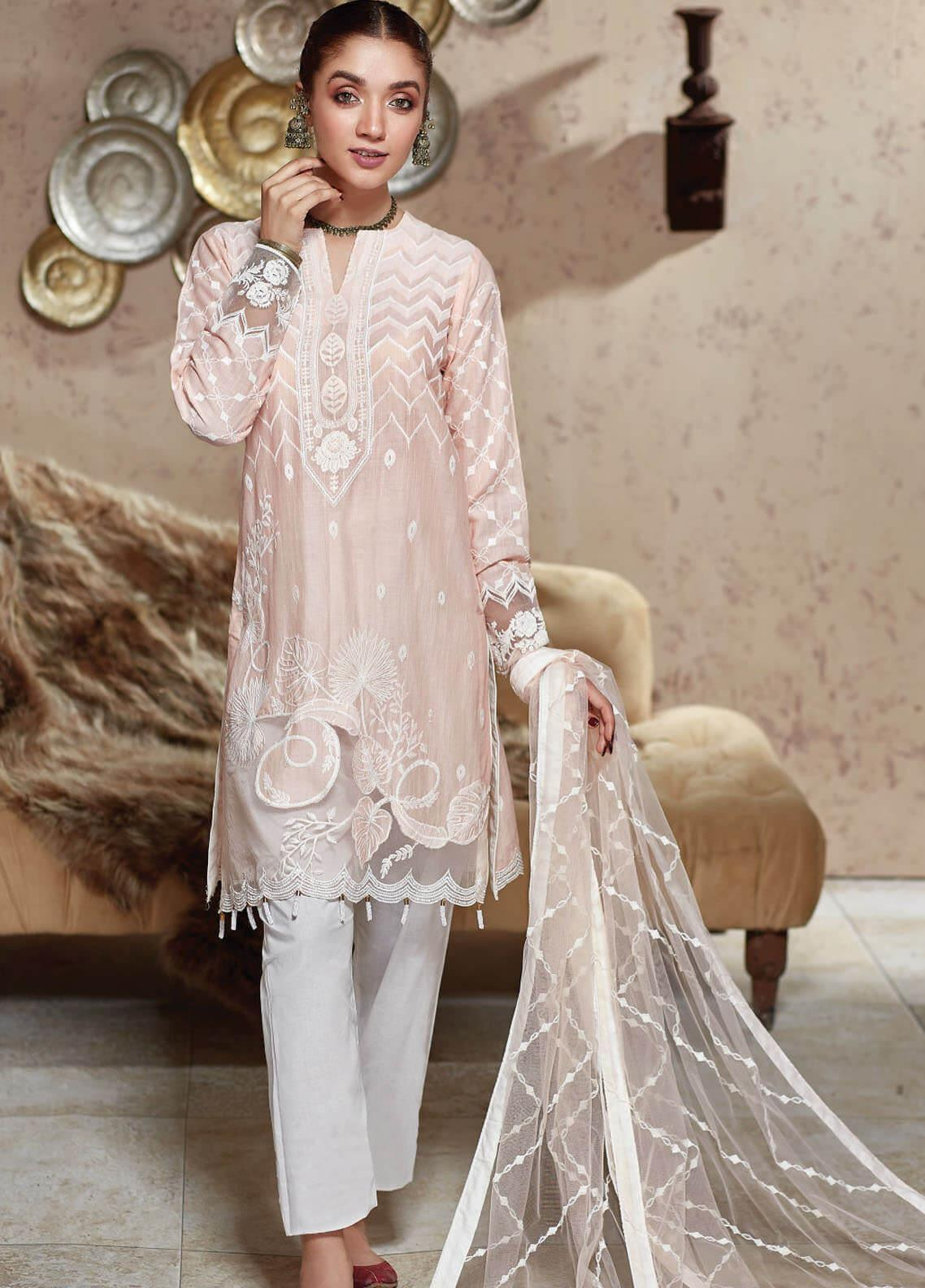 Nafasat by Resham Ghar Embroidered Lawn Unstitched 3 Piece Suit RG20N RGS-07 - Luxury Collection