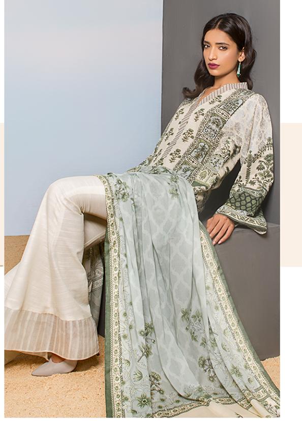 Sapphire Printed Khaddar Unstitched 2 Piece Suit SP17W Native Arches A