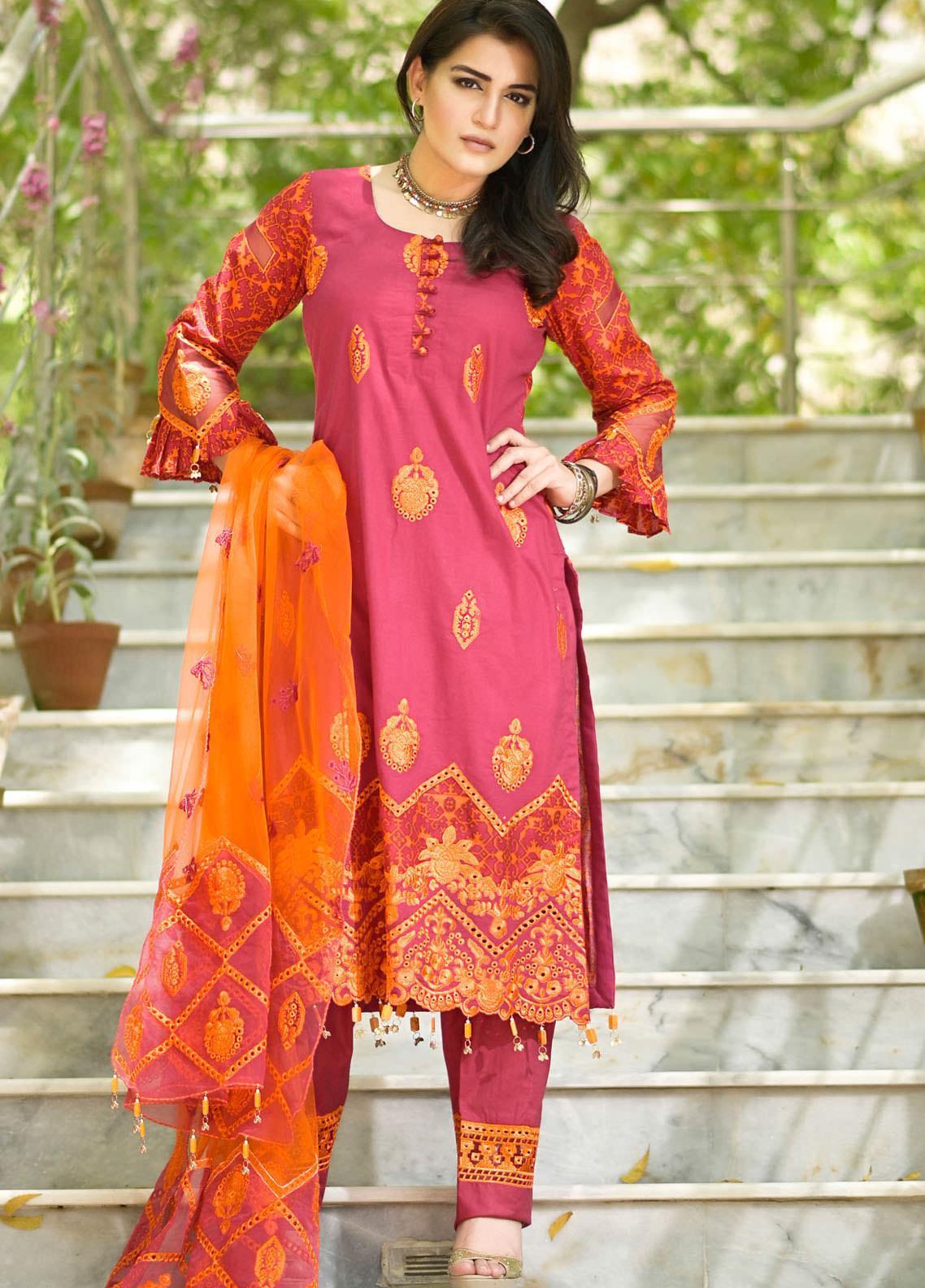 Nazia Malik Chikankari Lawn Suits Unstitched 3 Piece NZM21L 01-Florista - Luxury Collection