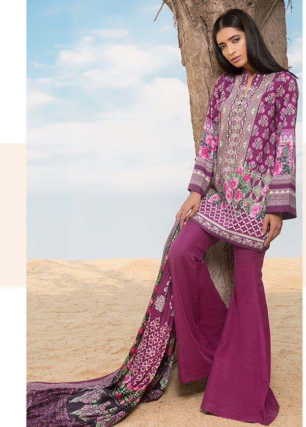 Sapphire Embroidered Khaddar Unstitched 2 Piece Suit SP17W Needle Point B