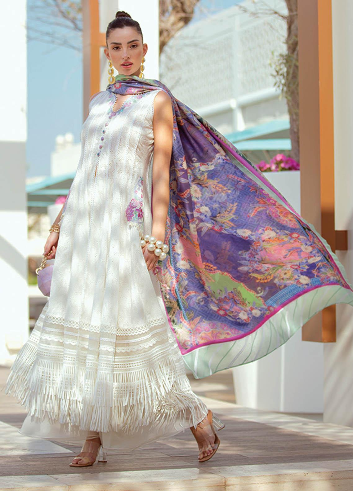 NERA by Farah Talib Embroidered Lawn Suits Unstitched 3 Piece FTA21N 09 Tara - Summer Collection