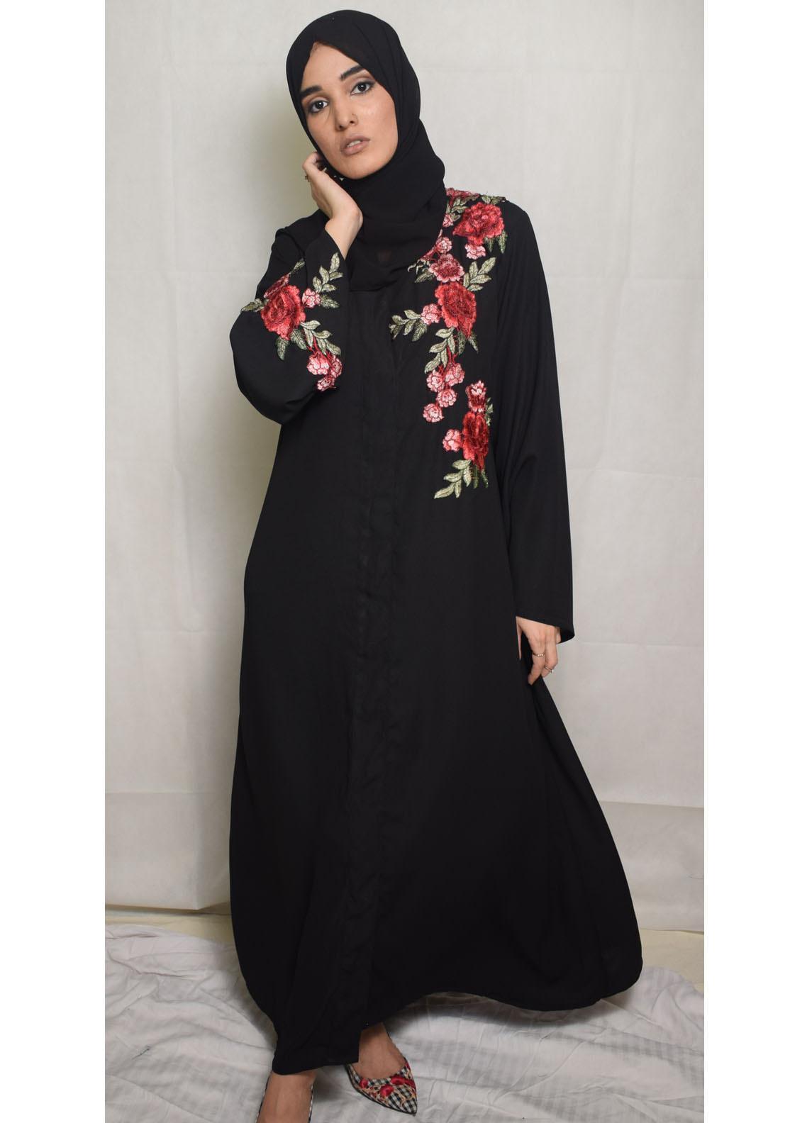 Nida Gul Fancy Korean Nida Stitched Maxi NG20MD D-307 Thanaa Evening Abaya with Hijab