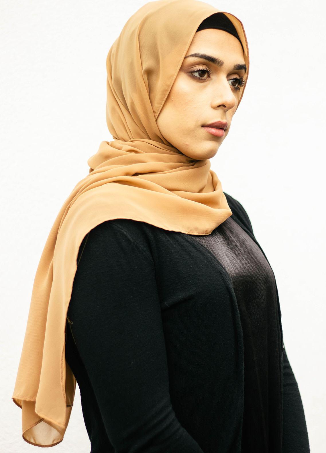 Nida Gul Printed Chiffon Hijab NG20MDH H-101 Luxury Butter Chiffon Hijab Toffee