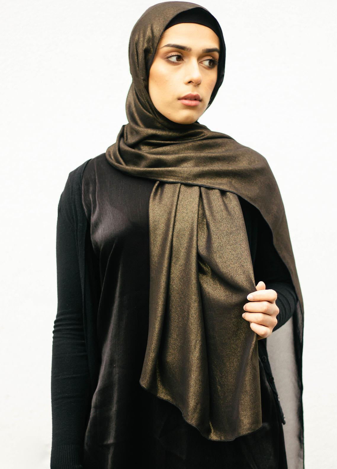 Nida Gul Printed Chiffon Hijab NG20MDH H-102 Glow Chiffon Hijab Gold