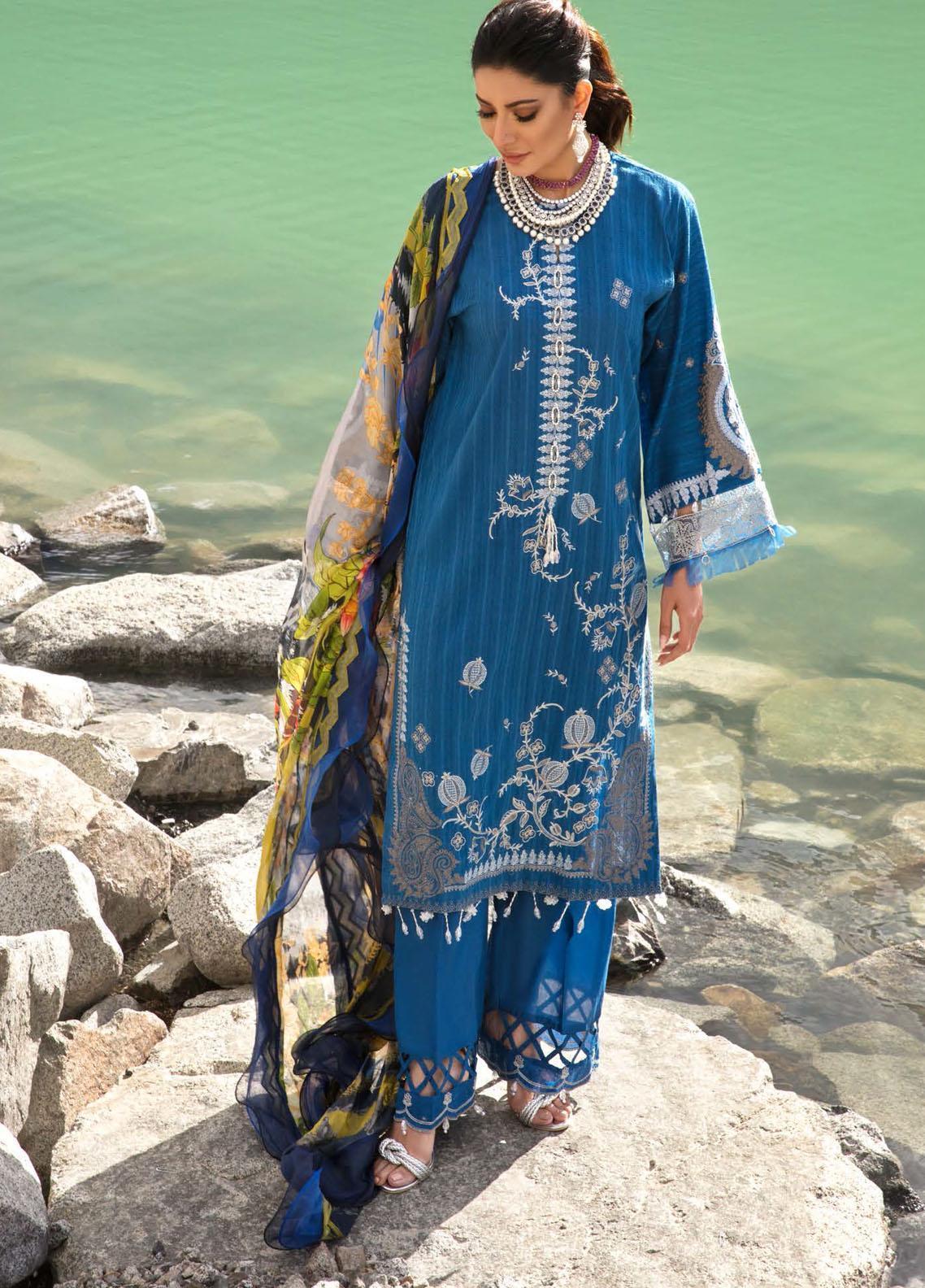 Nisa Hussain Baleine Blue 03 Luxury Collection 2021