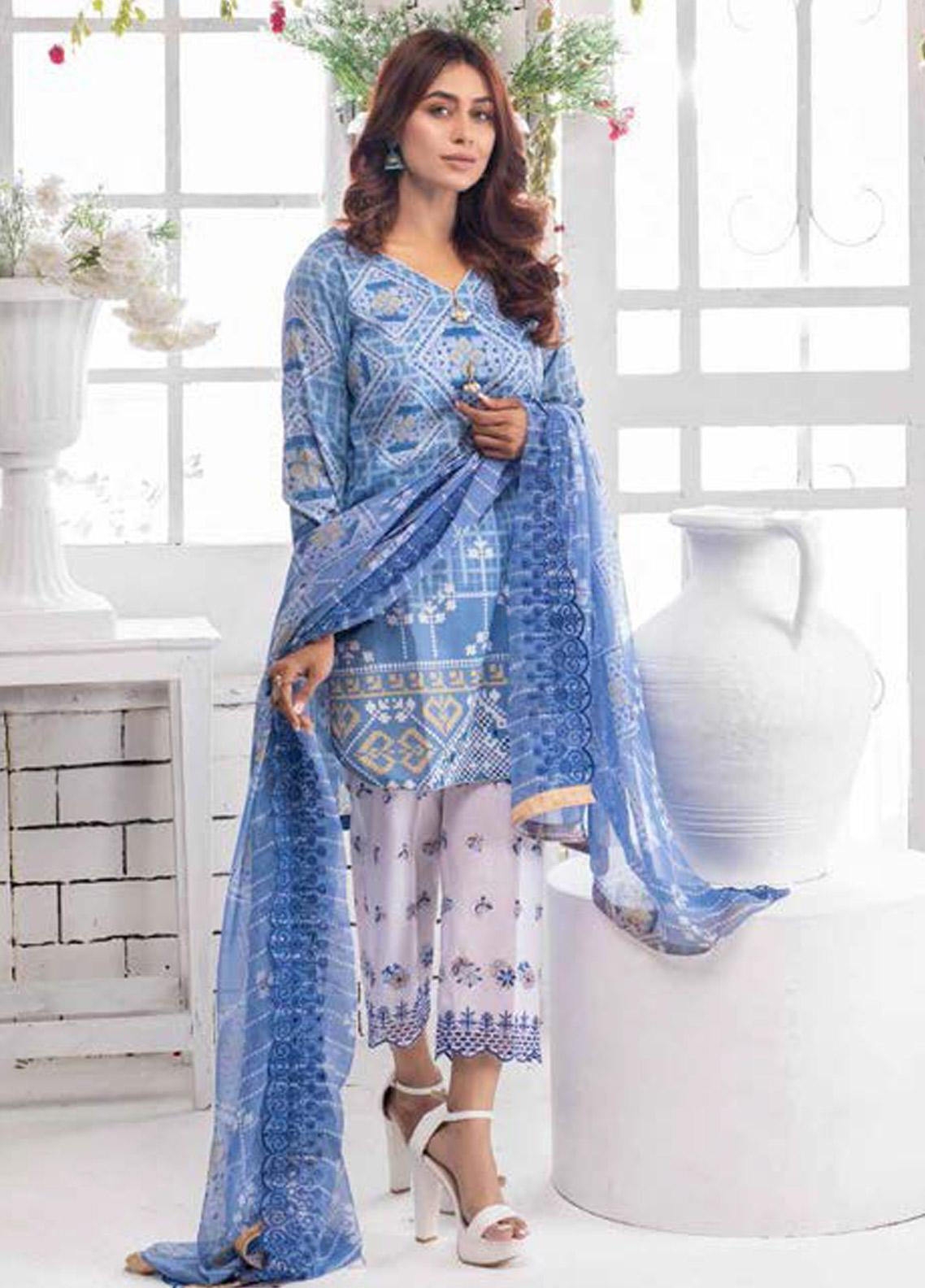 Noor Jahan Embroidered Lawn Unstitched 3 Piece Suit NJ20P 1 - Spring / Summer Collection
