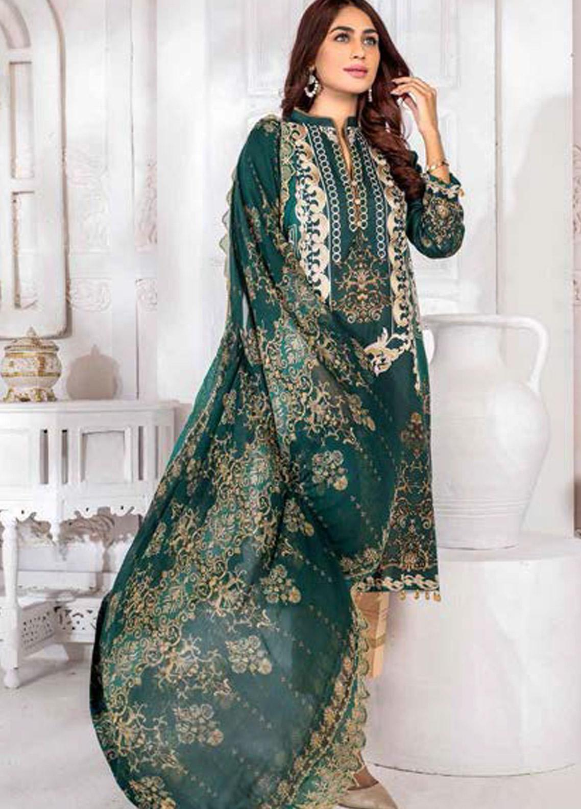 Noor Jahan Embroidered Lawn Unstitched 3 Piece Suit NJ20P 11 - Spring / Summer Collection