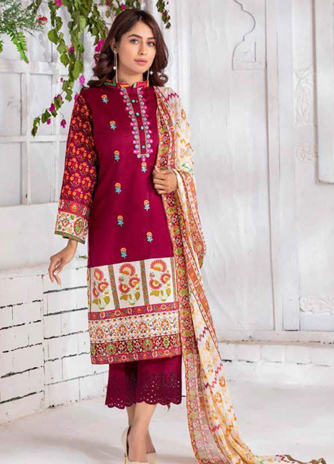 Noor Jahan Embroidered Lawn Unstitched 3 Piece Suit NJ20P 19 - Spring / Summer Collection