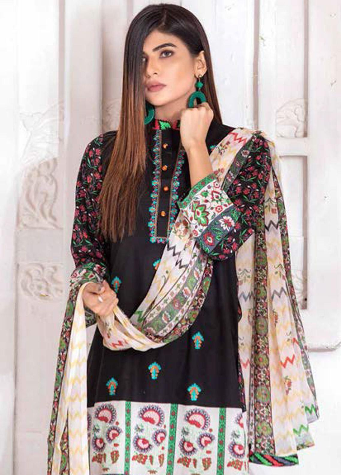 Noor Jahan Embroidered Lawn Unstitched 3 Piece Suit NJ20P 20 - Spring / Summer Collection