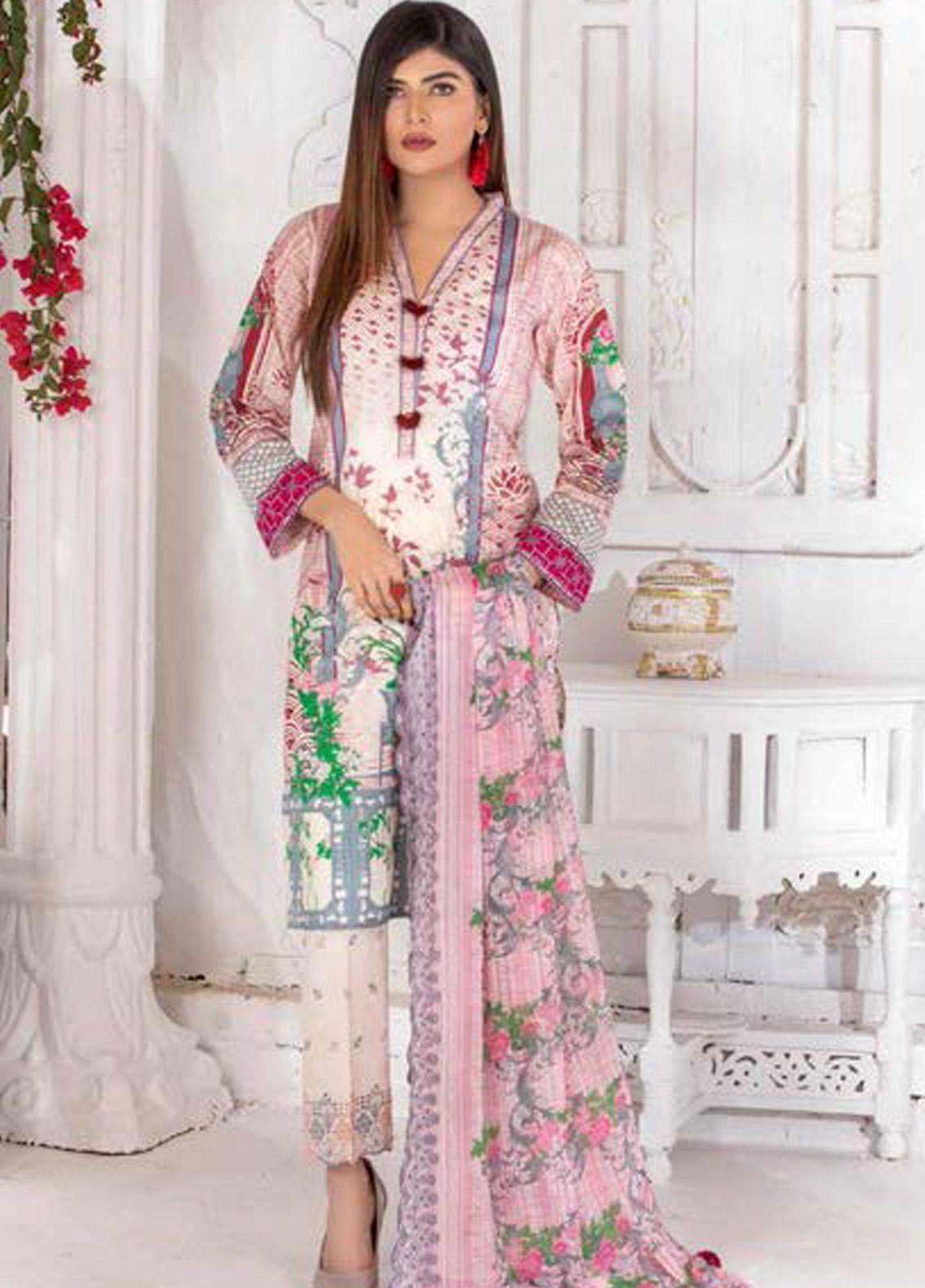 Noor Jahan Embroidered Lawn Unstitched 3 Piece Suit NJ20P 6 - Spring / Summer Collection