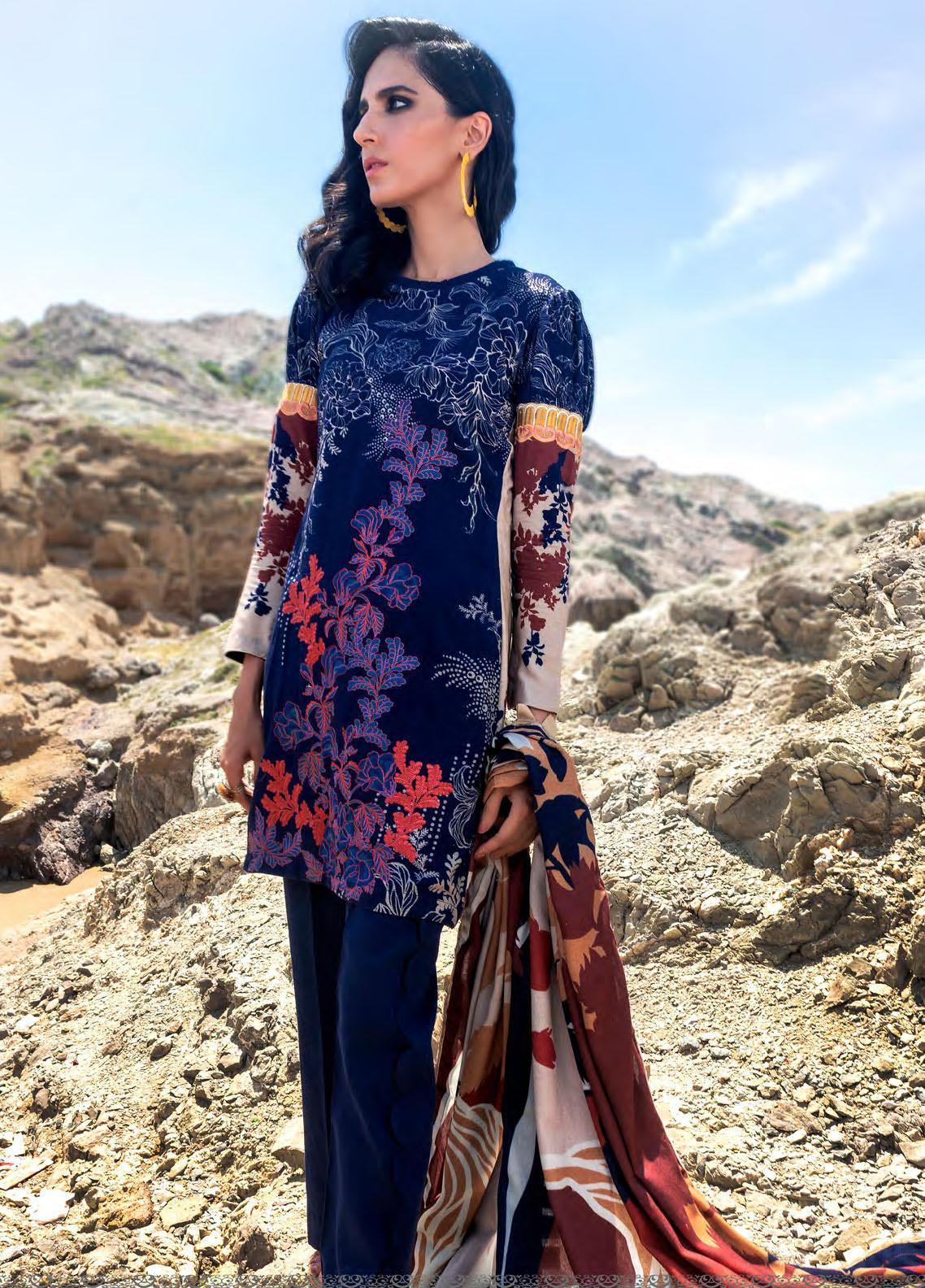 Nova by Mystique Embroidered Viscose Unstitched 3 Piece Suit MYS20N 03 - Winter Collection