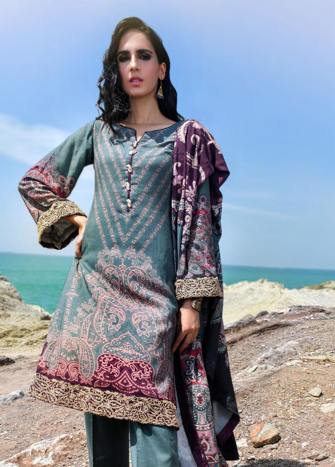 Nova by Mystique Embroidered Viscose Unstitched 3 Piece Suit MYS20N 05 - Winter Collection