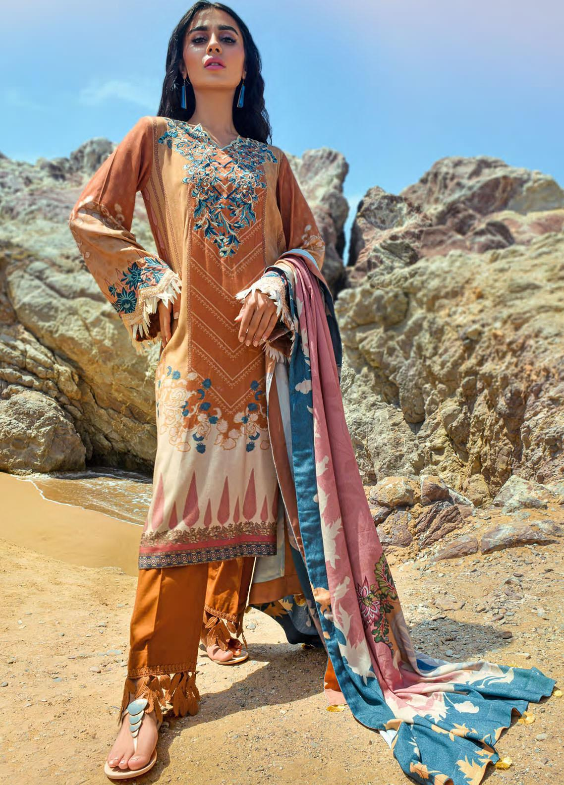 Nova by Mystique Embroidered Viscose Unstitched 3 Piece Suit MYS20N 09 - Winter Collection