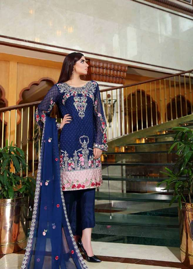Noor by Saadia Asad Embroidered Chiffon Unstitched 3 Piece Suit NS16E2 02