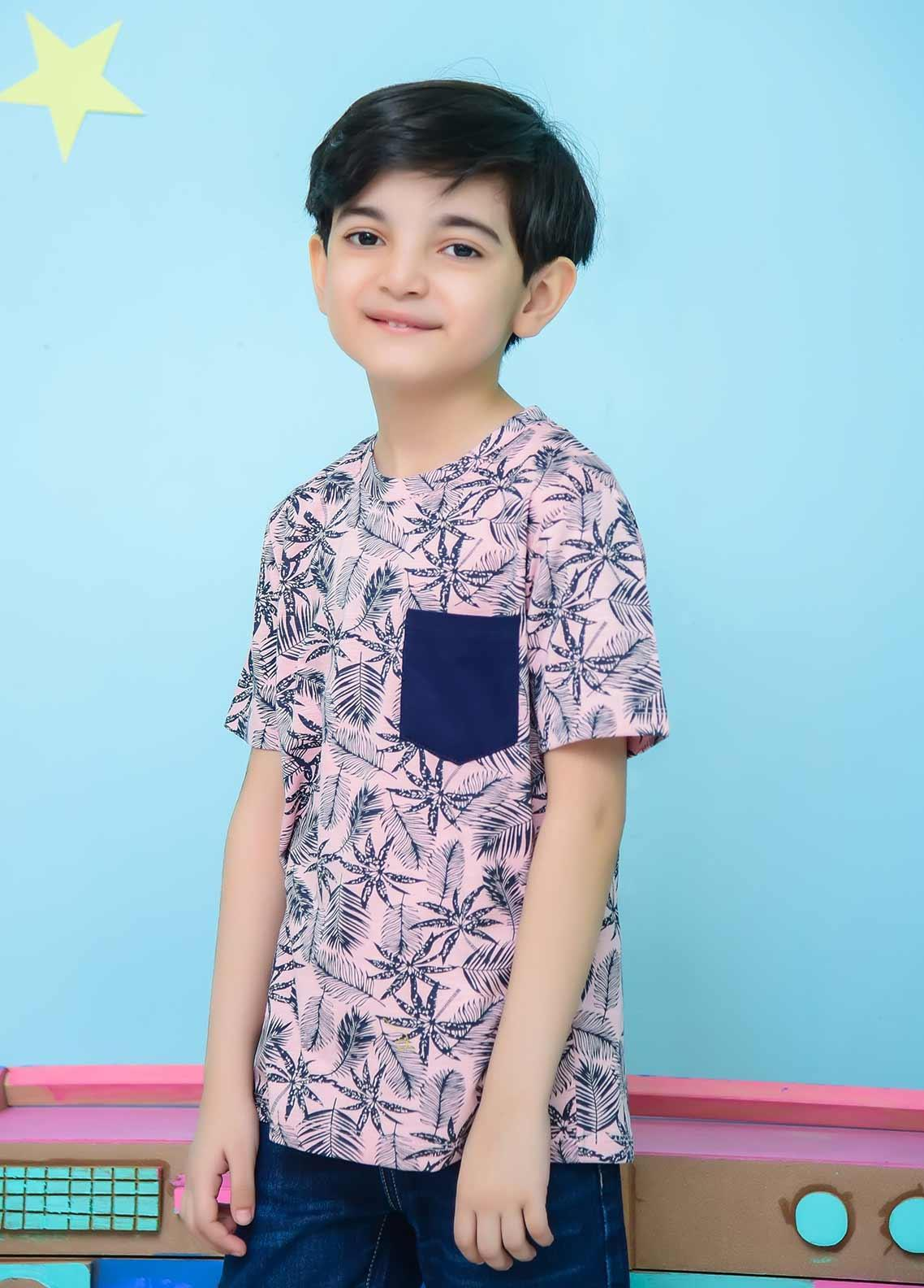 Ochre Cotton Casual T-Shirts for Boys - OKB 60 Heather Grey