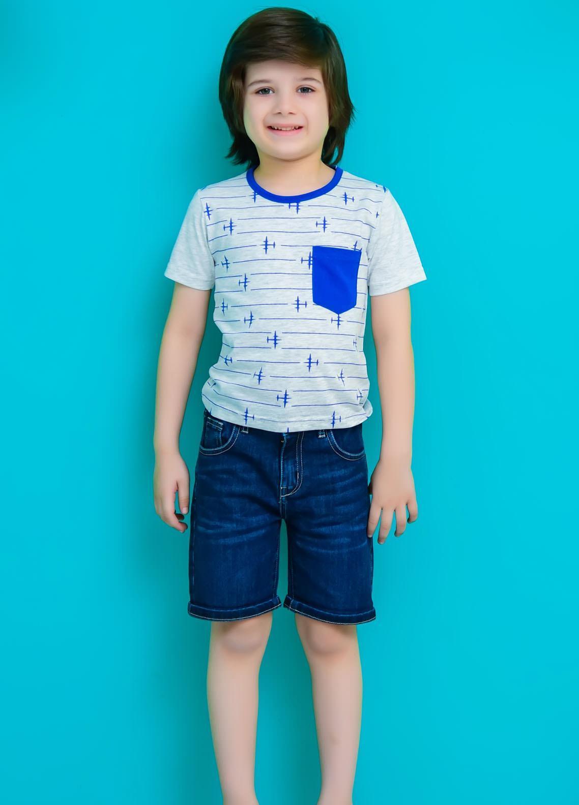 Ochre Cotton Casual T-Shirts for Boys -  OKB-80 White