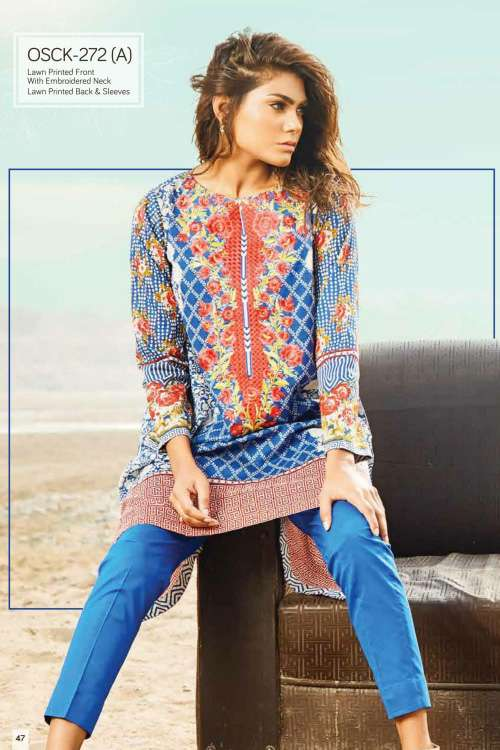 Oaks Embroidered Lawn Unstitched Kurtis OK17L 272A