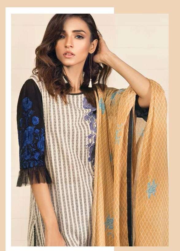 Orient Textile Embroidered Lawn Unstitched 3 Piece Suit OP17E 162A