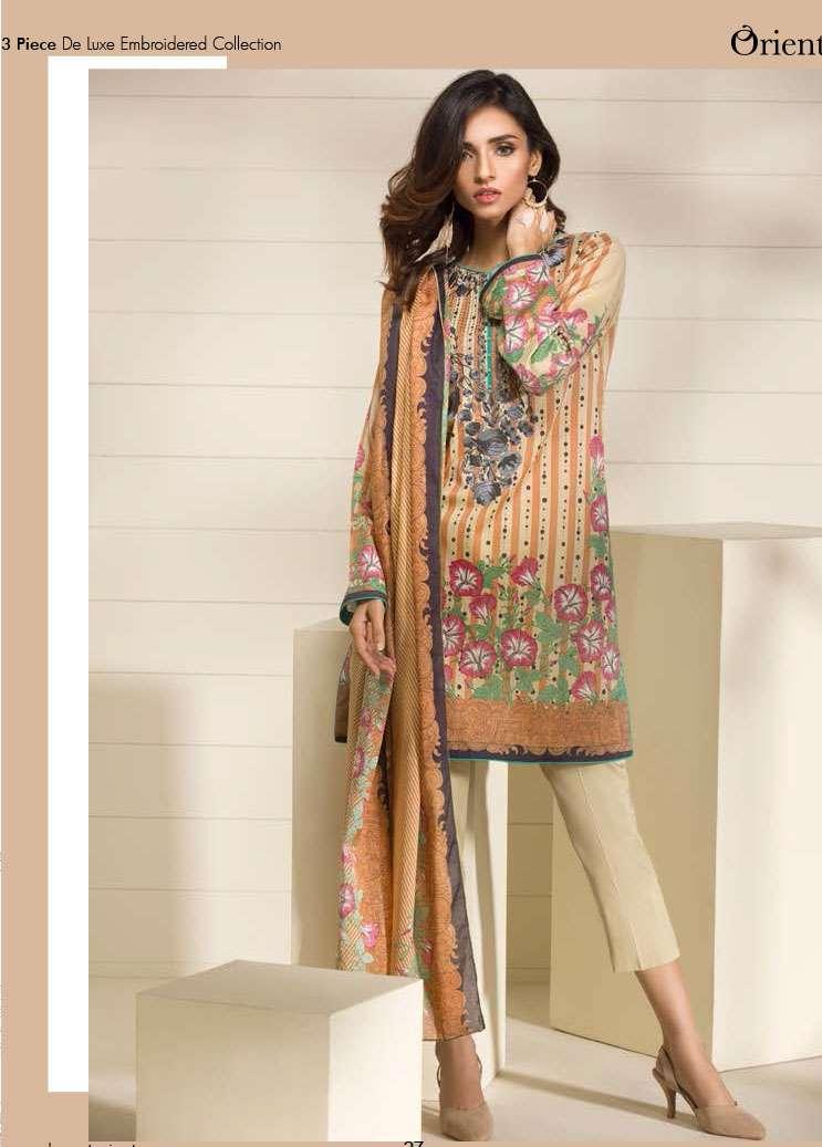 Orient Textile Printed Lawn Unstitched 3 Piece Suit OP17E 164A