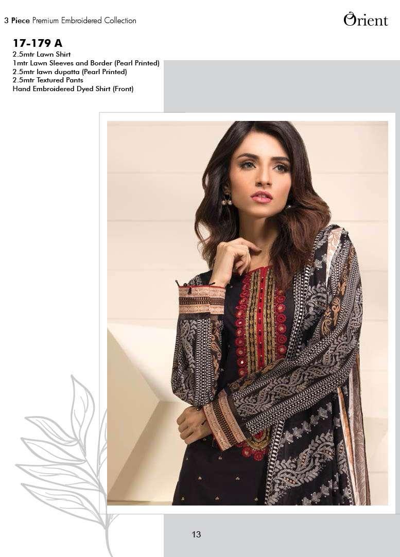 Orient Textile Embroidered Lawn Unstitched 3 Piece Suit OP17E 179A