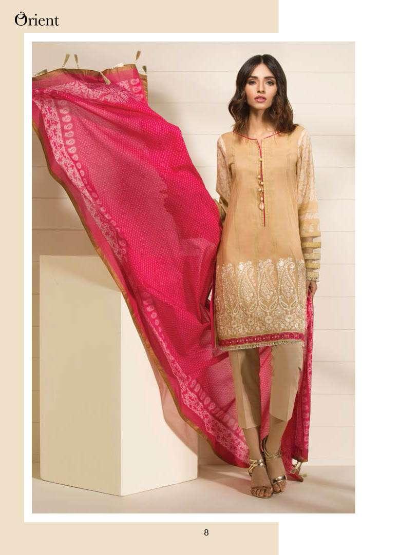 Orient Textile Embroidered Lawn Unstitched 3 Piece Suit OP17E 180A