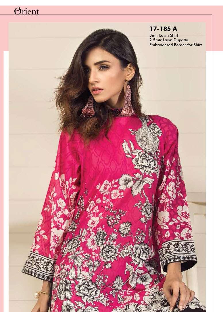 Orient Textile Embroidered Lawn Unstitched 3 Piece Suit OP17E 185A