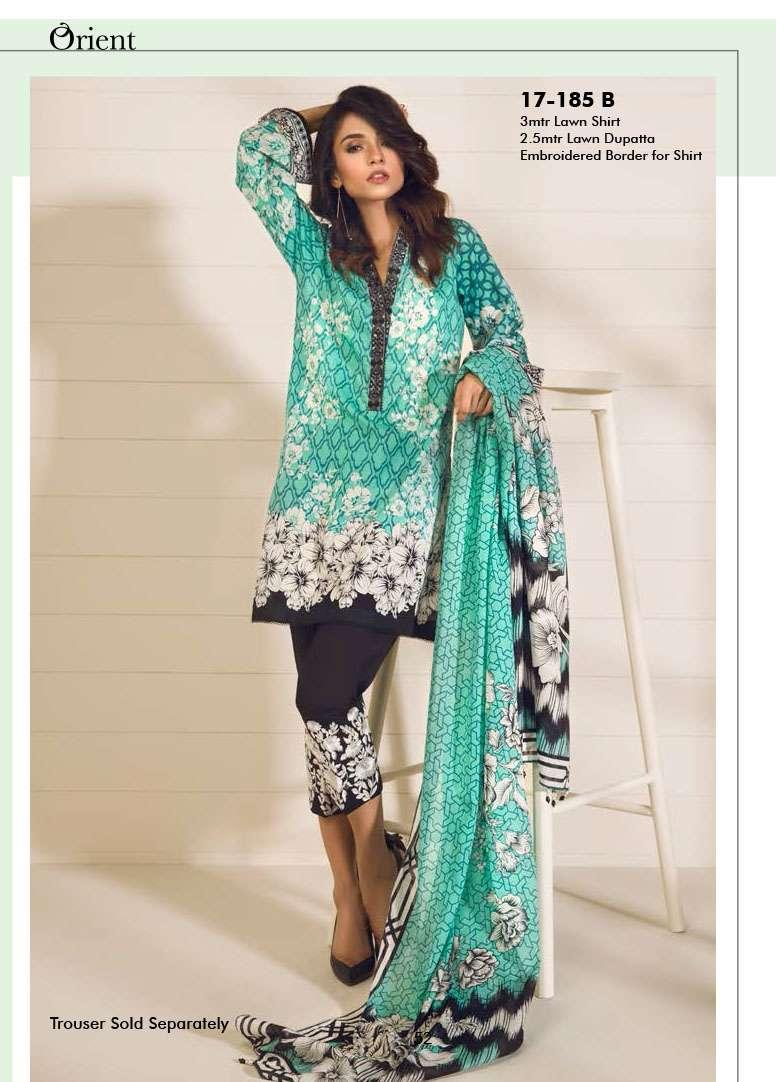 Orient Textile Embroidered Lawn Unstitched 3 Piece Suit OP17E 185B