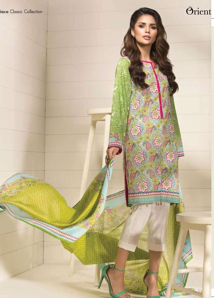 Orient Textile Printed Lawn Unstitched 3 Piece Suit OP17E 186A