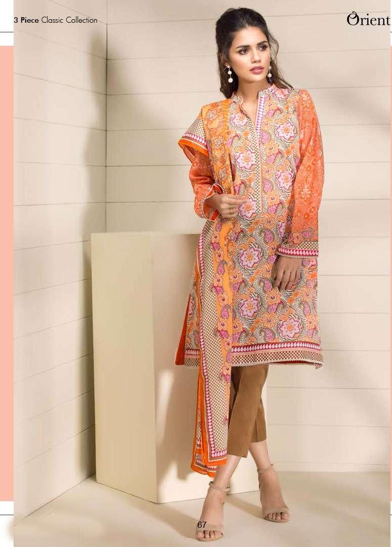 Orient Textile Printed Lawn Unstitched 3 Piece Suit OP17E 186B