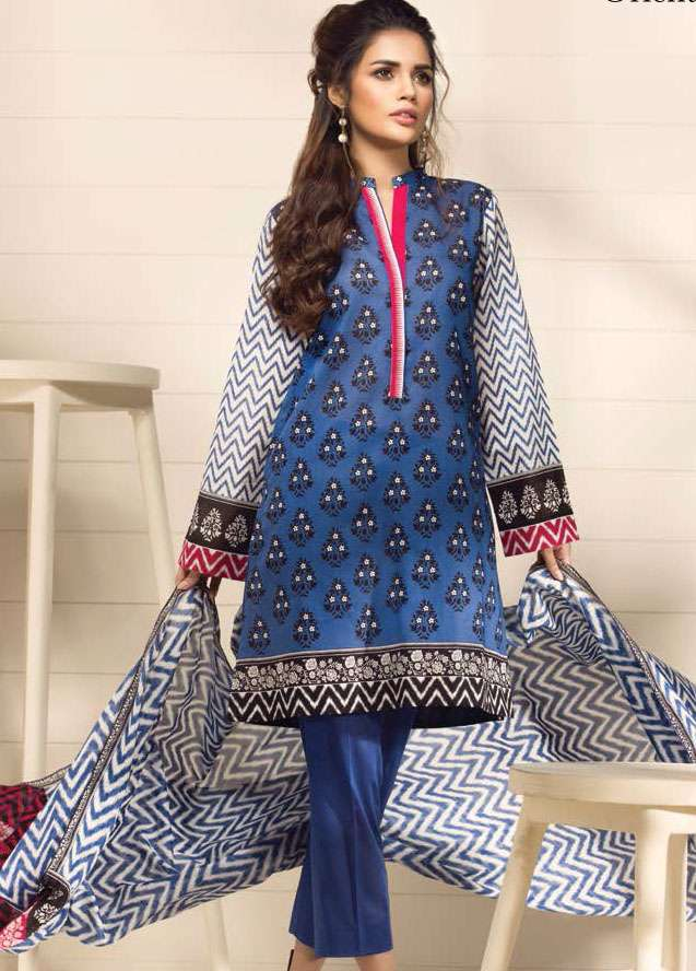 Orient Textile Embroidered Lawn Unstitched 3 Piece Suit OP17E 187A