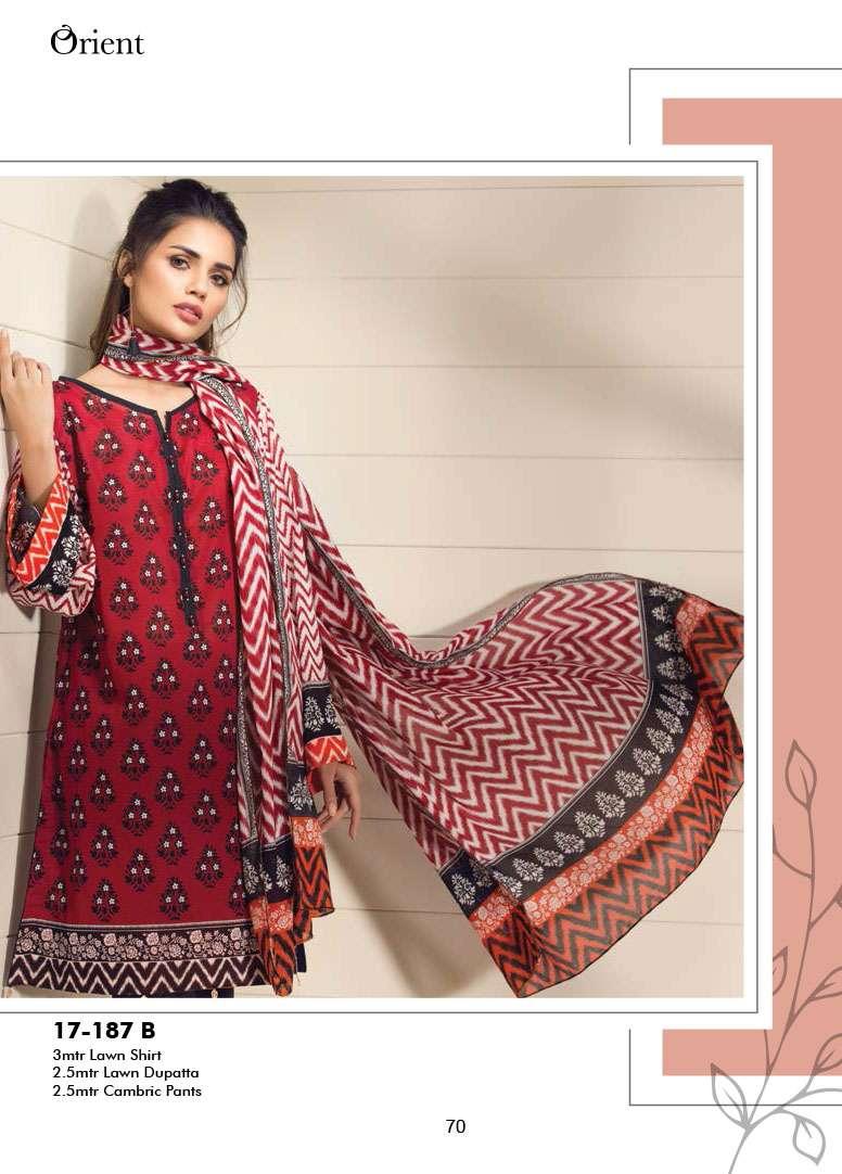 Orient Textile Embroidered Lawn Unstitched 3 Piece Suit OP17E 187B