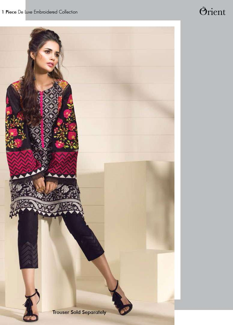 Orient Textile Embroidered Lawn Unstitched Kurtis OP17E 193B