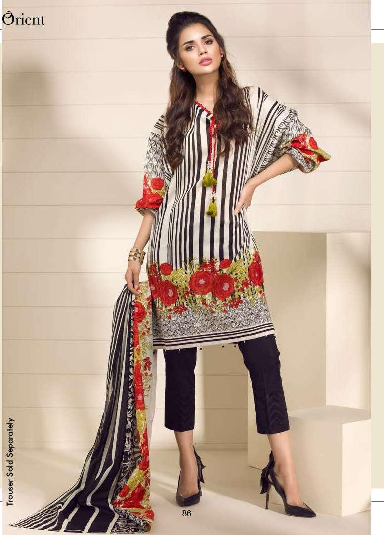 Orient Textile Embroidered Lawn Unstitched 2 Piece Suit OP17E 199A
