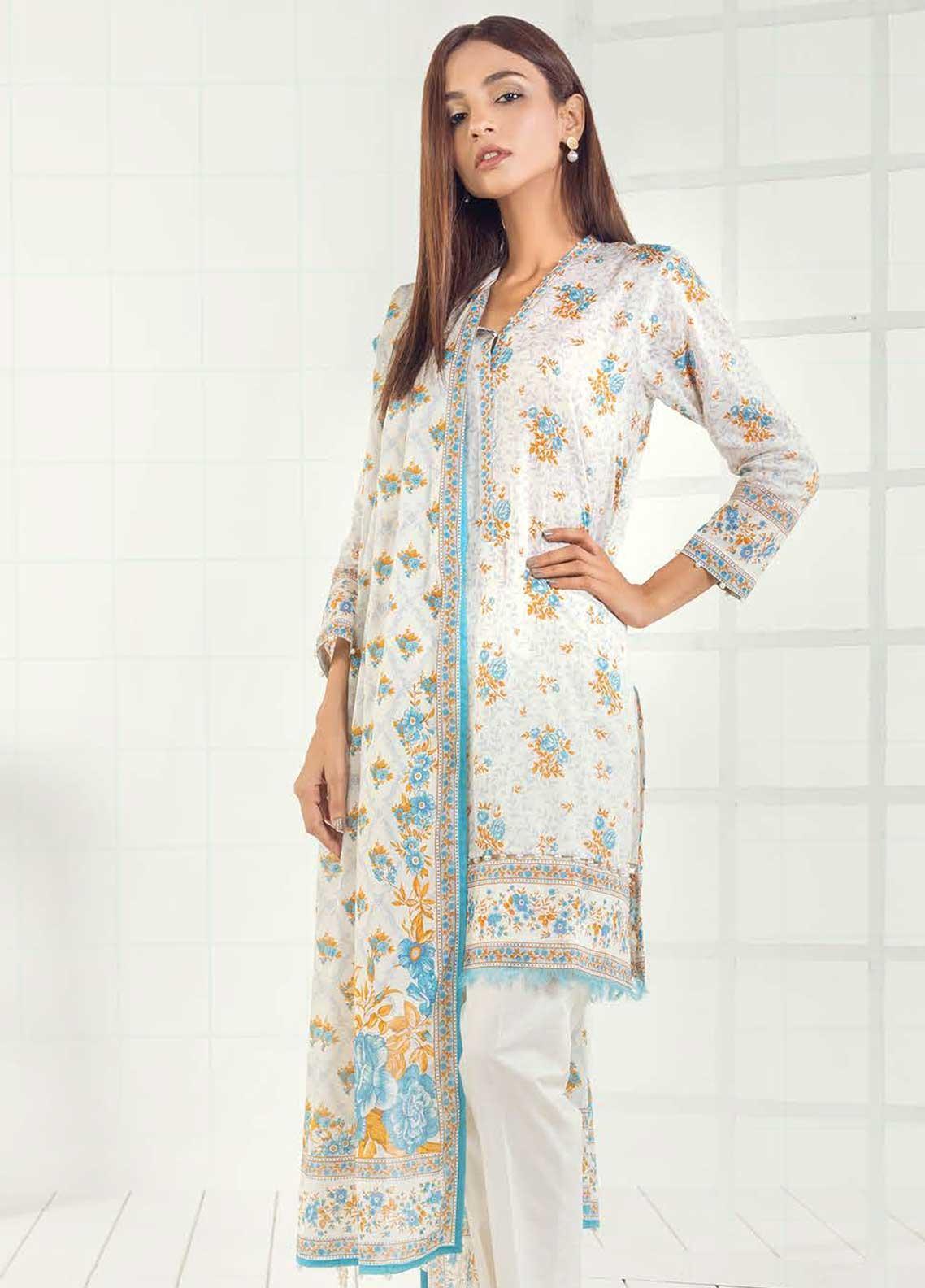 Orient Textile Printed Lawn Unstitched 3 Piece Suit OT19-L3 169A - Mid Summer Collection