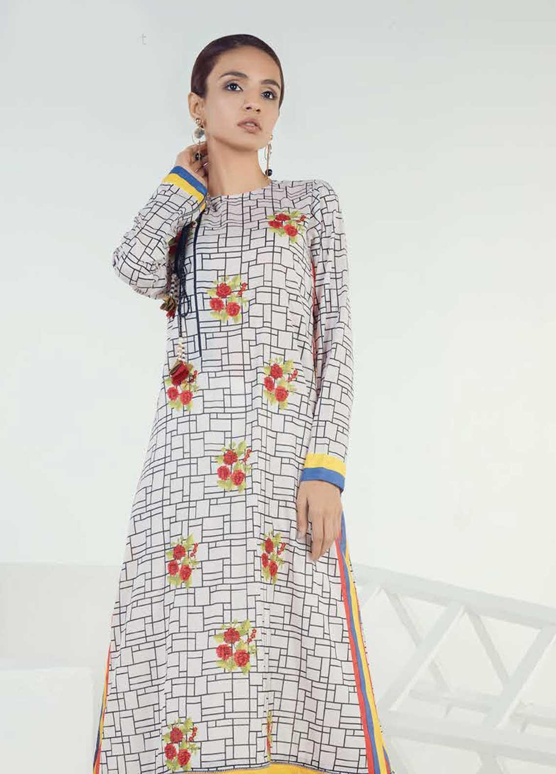 Orient Textile Embroidered Lawn Unstitched Kurties OT19-L3 181A - Mid Summer Collection