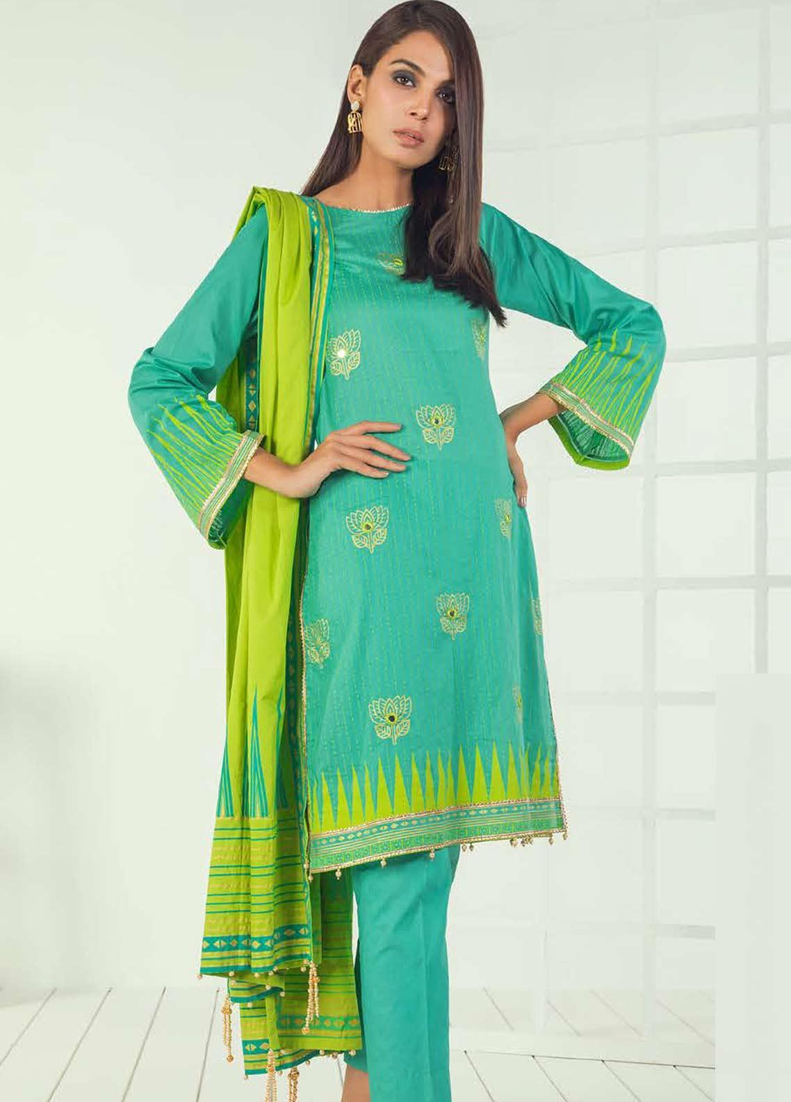 Orient Textile Embroidered Lawn Unstitched 3 Piece Suit OT19-L3 190A - Mid Summer Collection