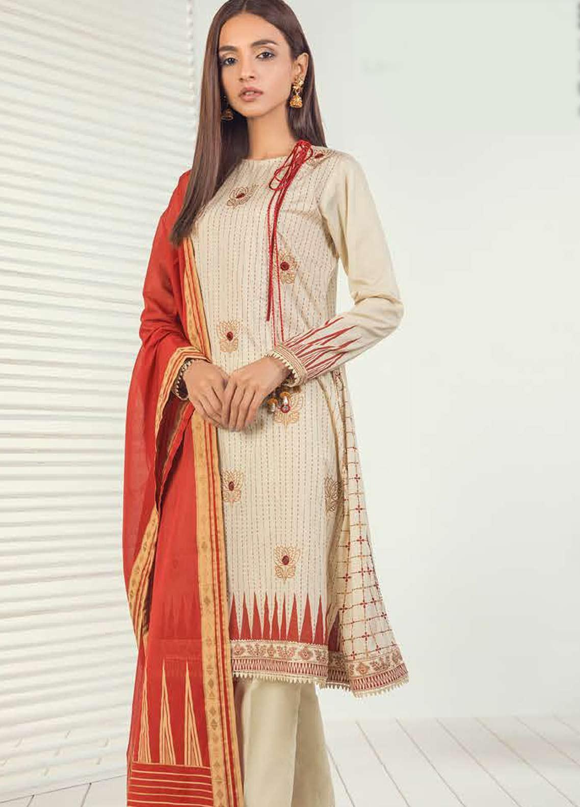 Orient Textile Embroidered Lawn Unstitched 3 Piece Suit OT19-L3 190B - Mid Summer Collection