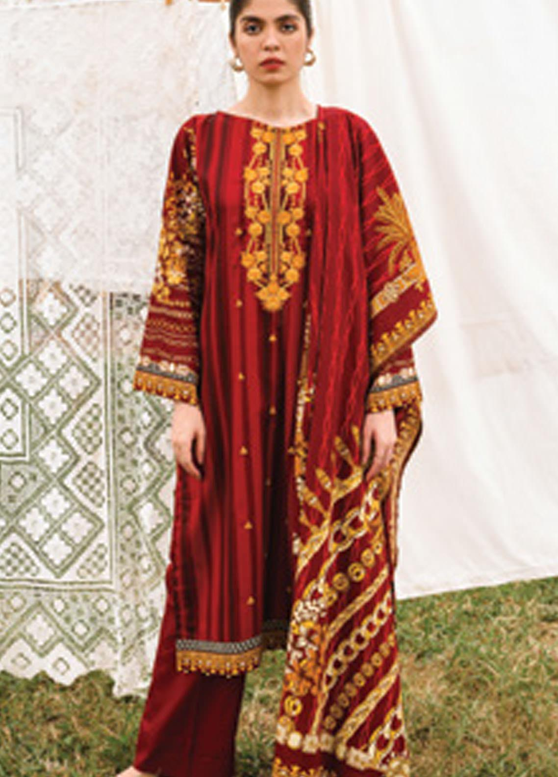 Orient Textile Embroidered Cottel Unstitched 3 Piece Suit OT20MW A-165 - Winter Collection