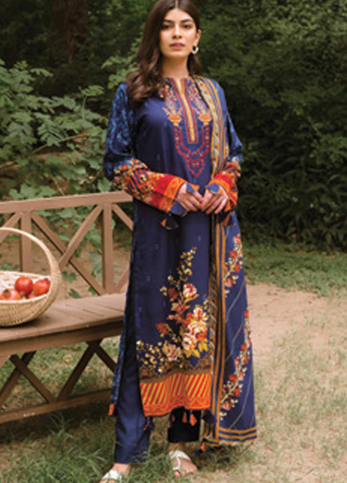 Orient Textile Embroidered Linen Unstitched 3 Piece Suit OT20MW A-204 - Winter Collection