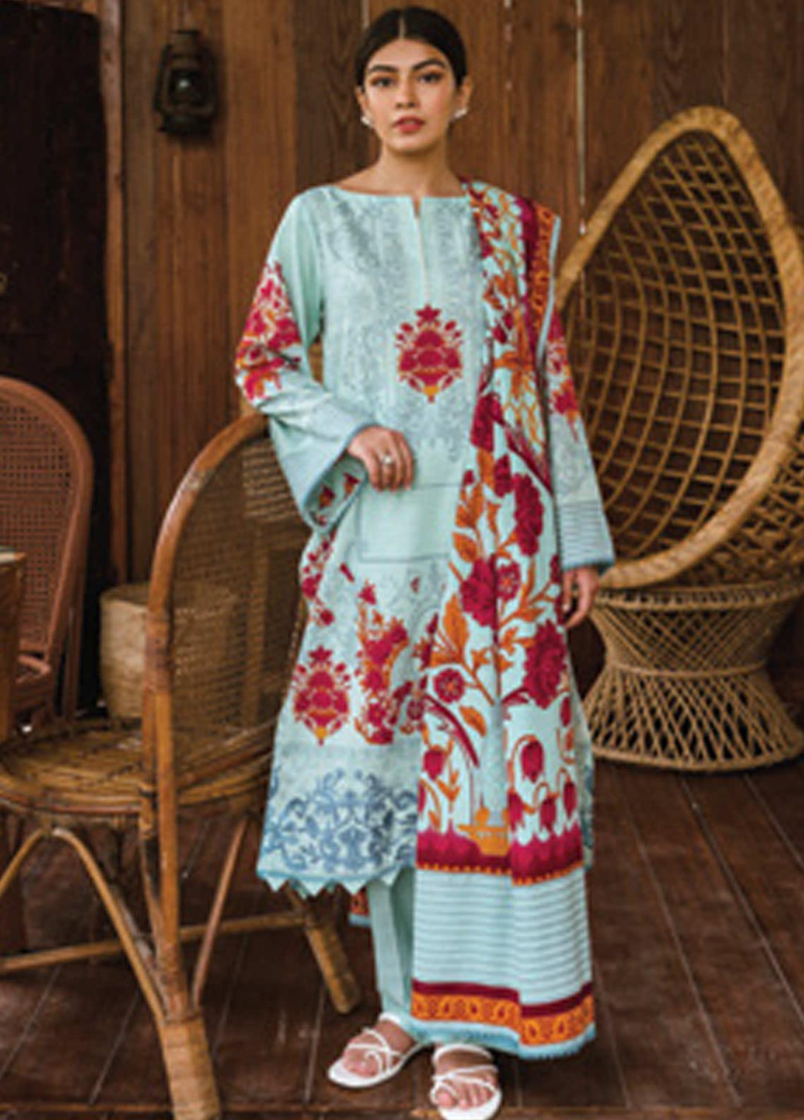 Orient Textile Embroidered Khaddar Unstitched 3 Piece Suit OT20MW B-164 - Winter Collection
