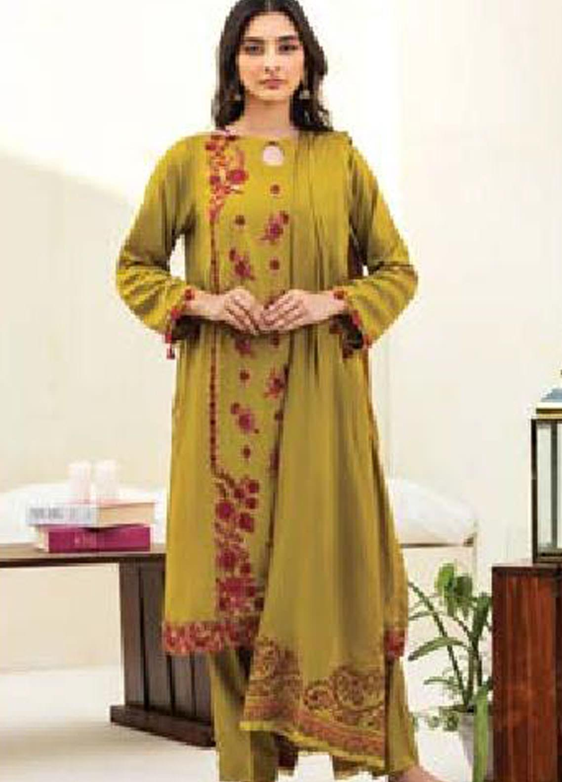 MYSA by Orient Embroidered Cottel Unstitched 3 Piece Suit OT20-MW2 178 B - Winter Collection