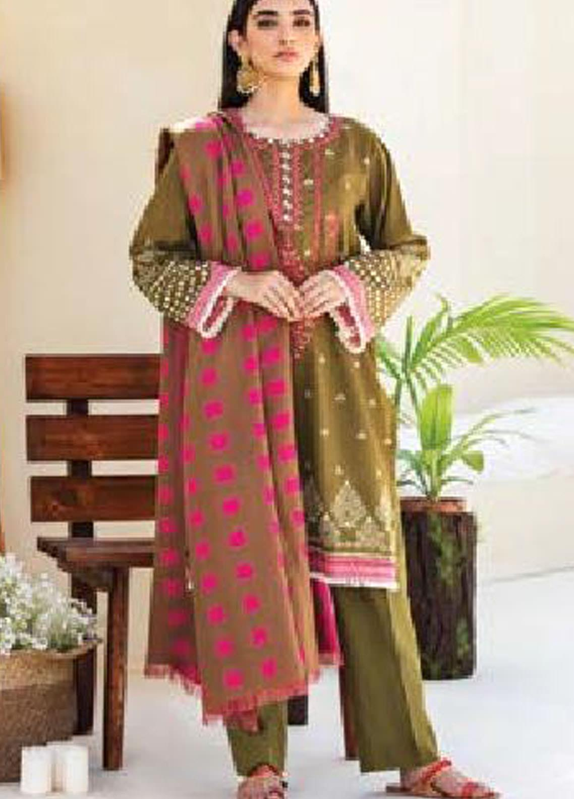 MYSA by Orient Embroidered Karandi Unstitched 3 Piece Suit OT20-MW2 186 A - Winter Collection