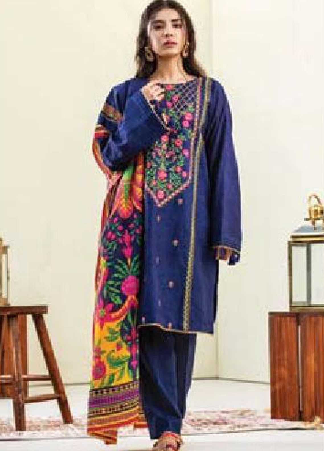 MYSA by Orient Embroidered Karandi Unstitched 3 Piece Suit OT20-MW2 189 A - Winter Collection