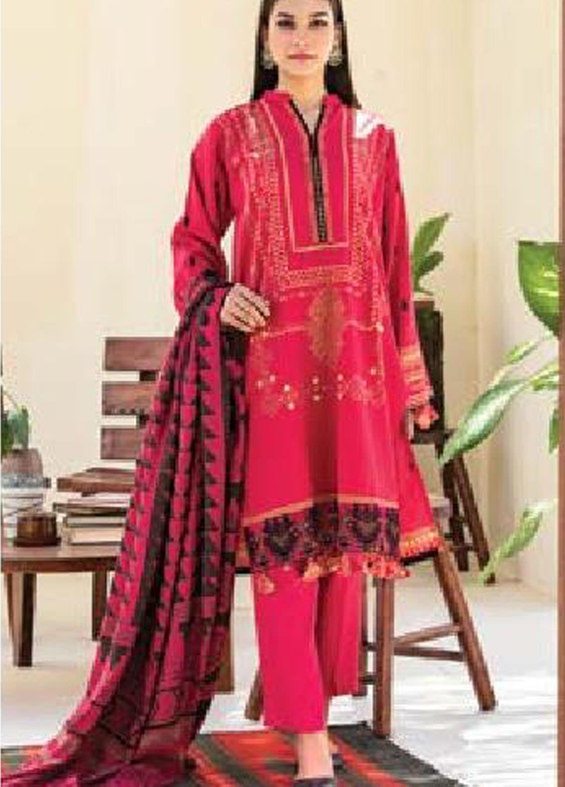 MYSA by Orient Embroidered Cottel Linen Unstitched 3 Piece Suit OT20-MW2 213 A - Winter Collection