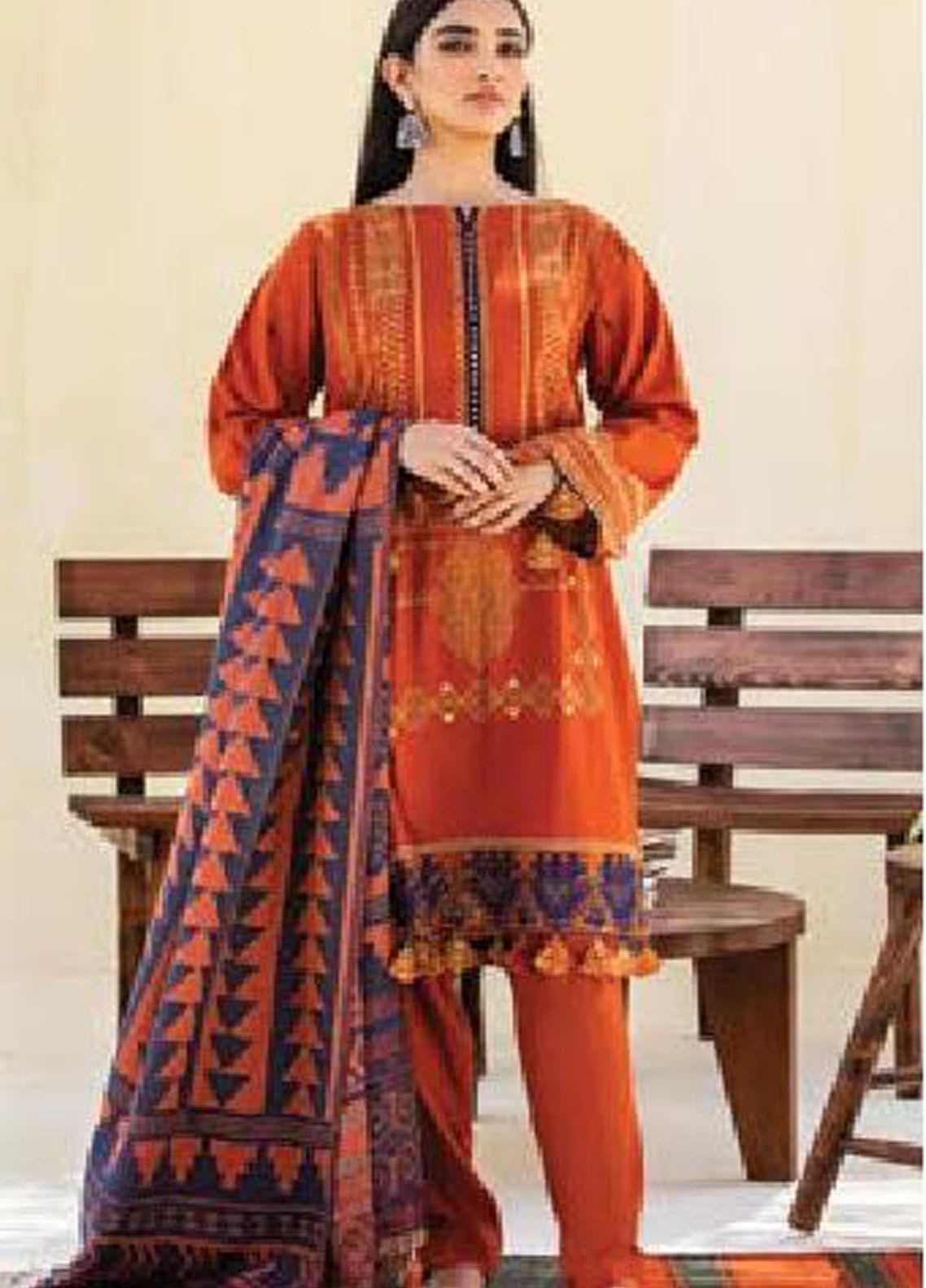 MYSA by Orient Embroidered Cottel Linen Unstitched 3 Piece Suit OT20-MW2 213 B - Winter Collection