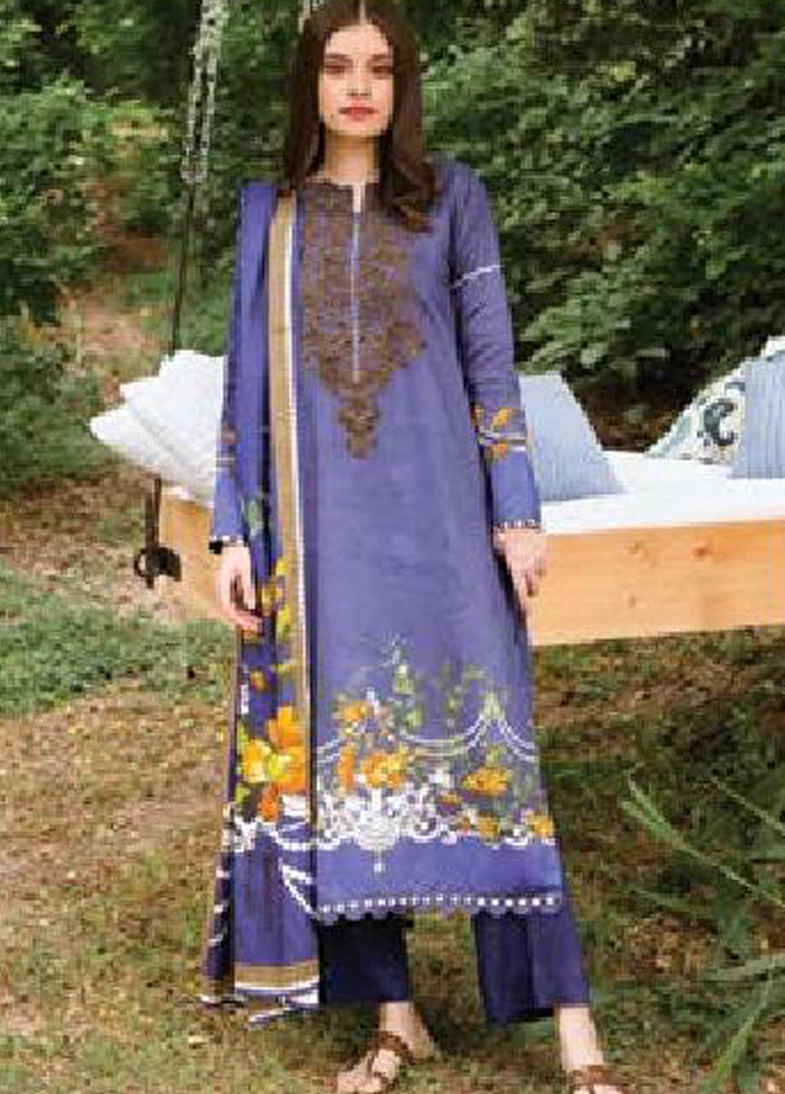 MYSA by Orient Embroidered Cottel Linen Unstitched 3 Piece Suit OT20-MW2 215 B - Winter Collection